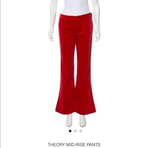 Theory Mid-Rise Cropped Corduroy Flare Pant - Sz 4